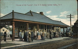 """Arrival of the Tuxedo"", Erie R.R. Station"