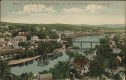 Bird's Eye View Norwich and the Shetuket River from Laurel Hill