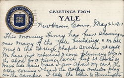Greetings From Yale Postcard
