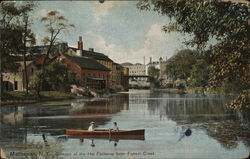 Glimpse of Hat Factories from Fishkill Creek Postcard