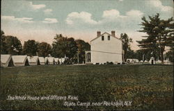 The White House and Officers Row, State Camp Postcard