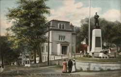 First National Bank and Soldiers Monument