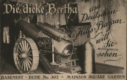 Die Dicke Bertha Cannon, Madison Square Garden