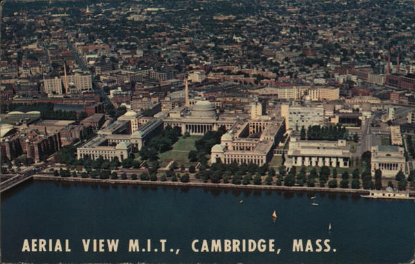 Aerial View M.I.T. Cambridge Massachusetts