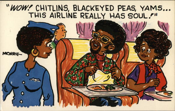 Sould Food - Couple Talking to Stewardess Morrie Turner