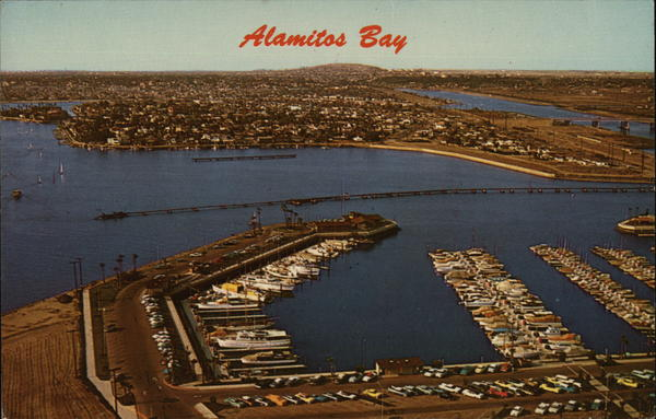 Bird's Eye View of Alamitos Bay Long Beach California