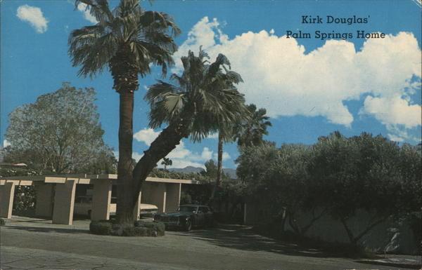 Kirk Douglas' Palm Springs Home California