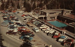 Overlooking the Aquacourt and Parking Space at Radium Hot Springs