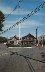 The flagpole at 'Sconset Village Postcard