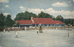 The Tennis Club and Some of the 8 Clay Courts at The Inn Postcard