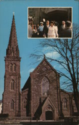 President and Mrs. Kennedy at St. Mary's Church