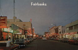 Second Avenue in Fairbanks Postcard