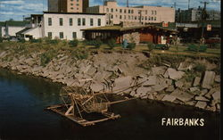Model Fishwheel on Chena River Postcard
