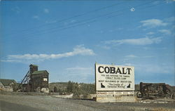 Highway Entrance Sign at Cobalt