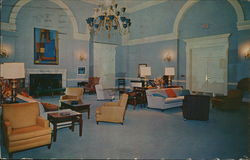 Main Lounge, Newcomb Hall Postcard