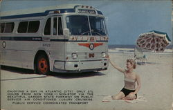 Bus on the Beach at Atlantic City