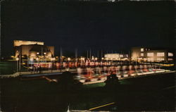 Bob Jones University at Night Postcard