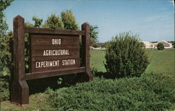 Sign at the Entrance to Ohio Agricultural Experiment Station