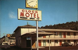 Clock Motel Postcard