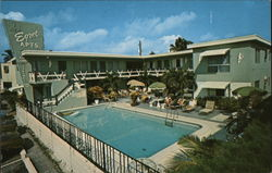 Egret Apartments Motel Postcard