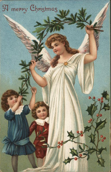 A Merry Christmas with Children and Angel Angels