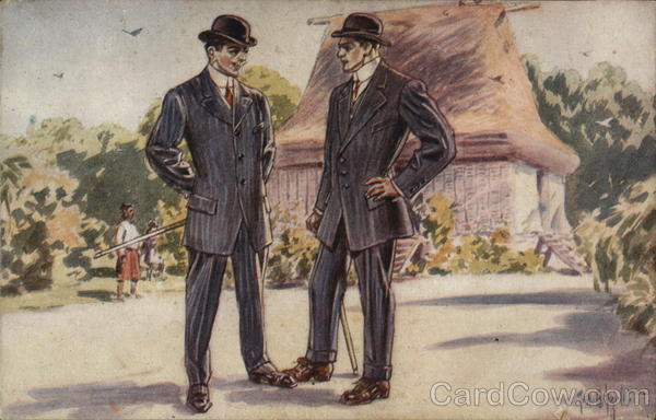 John Beno Company - Two Men in Suits Advertising