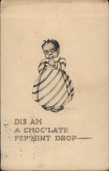 Dis Am A Choc'late Pep'mint Drop - Child Eating Candy