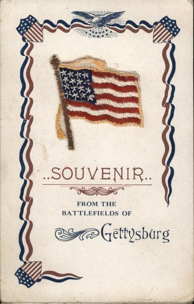 Souvenir From the Battlefields of Gettysburg with Flag