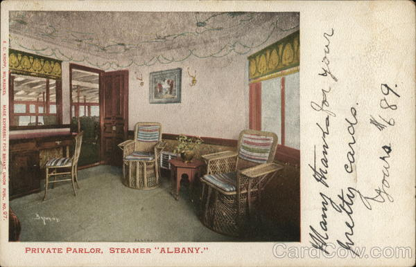Private Parlor, Steamer Albany Interiors