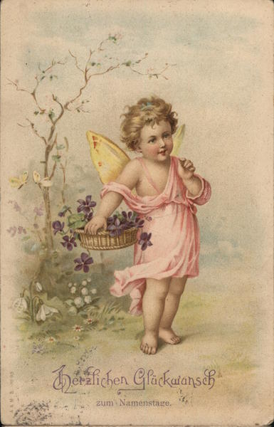 Young Fairy Gathering Flowers