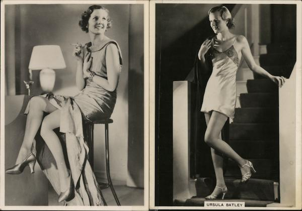 Photographs of Ursula Batley and Kitty Alden Actresses