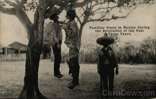 Hanging, Mexican Revolution Military