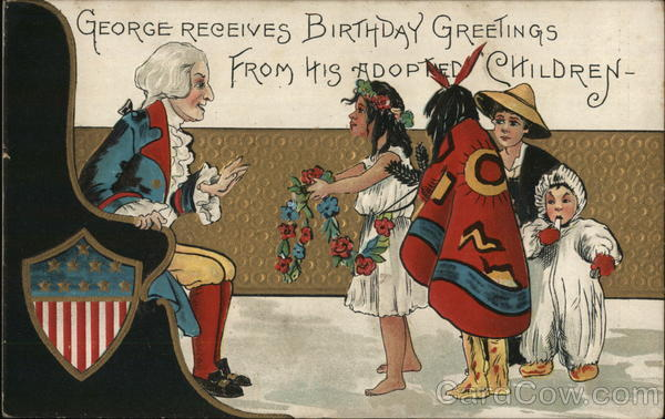Native Americans Greetings George Washington Native Americana