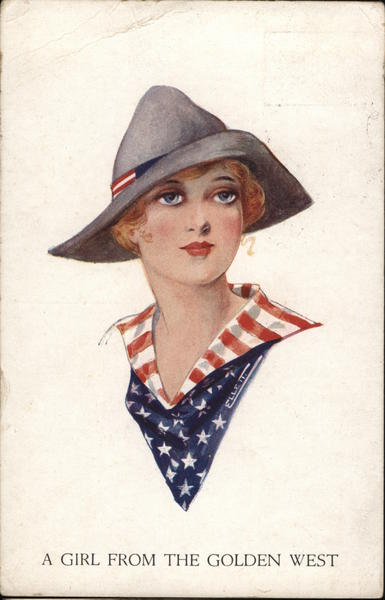 A Girl From The Golden West Ellett Patriotic