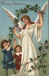 A Merry Christmas with Children and Angel
