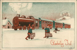 Christmas Elves and Train