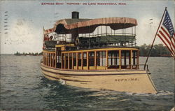 "Express Boat ""Hopkins"" on Lake Minnetonka, Minn."