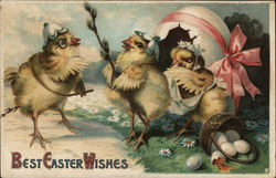 Best Easter Wishes - Chicks Hatching From Egg