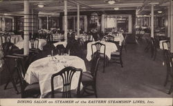 Dining Salon on Steamer of the Eastern Steamship Lines, Inc.