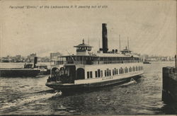 Ferryboat Elimira of the Lackawana R. R. Passing out of Slip.