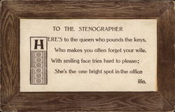 To the Stenographer Postcard