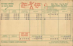 Electric Bill From Florida Power Corporation