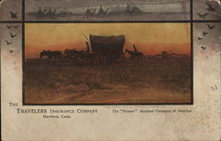 The Travelers Insurance Company - covered wagon and horses