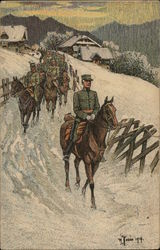 Cavalry in Snow