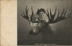 Woman with Moose