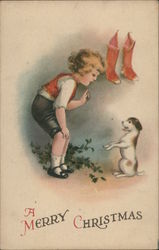A Merry Christmas with Child and Dog