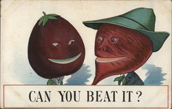 Beets Dressed As A Lady And A Man Smile Together