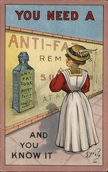 You Need a Anti-Fat Cure and You Know It, Comic Dwig Postcard