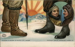 Footwear of Nations - 10 Designs - No. 1 Lapland Postcard
