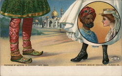 Footwear of nations - India Postcard